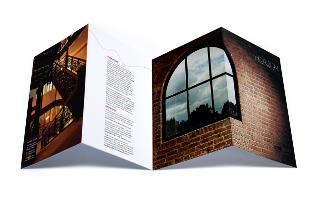 Brochure and promotional material for the property development Horizon. 1 Day Student Brief
