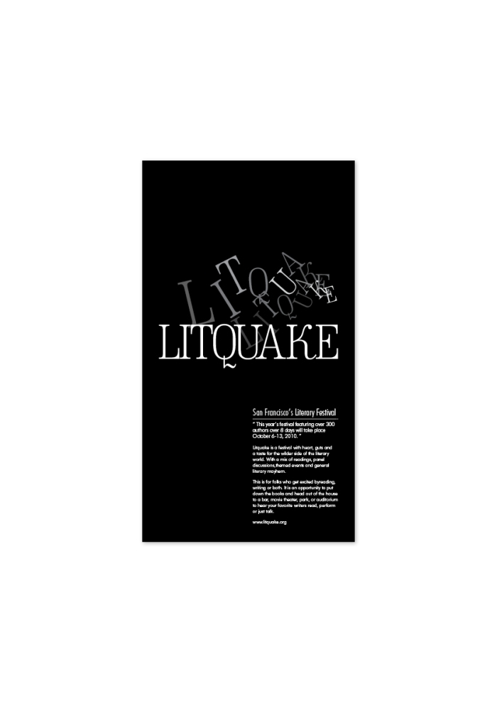 Designed to promote the Literary Festival. Half Day - Student Brief.