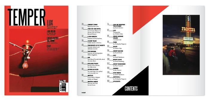 Branding, cover and spread design for Temper Magazine ( Art&Culture Magazine))