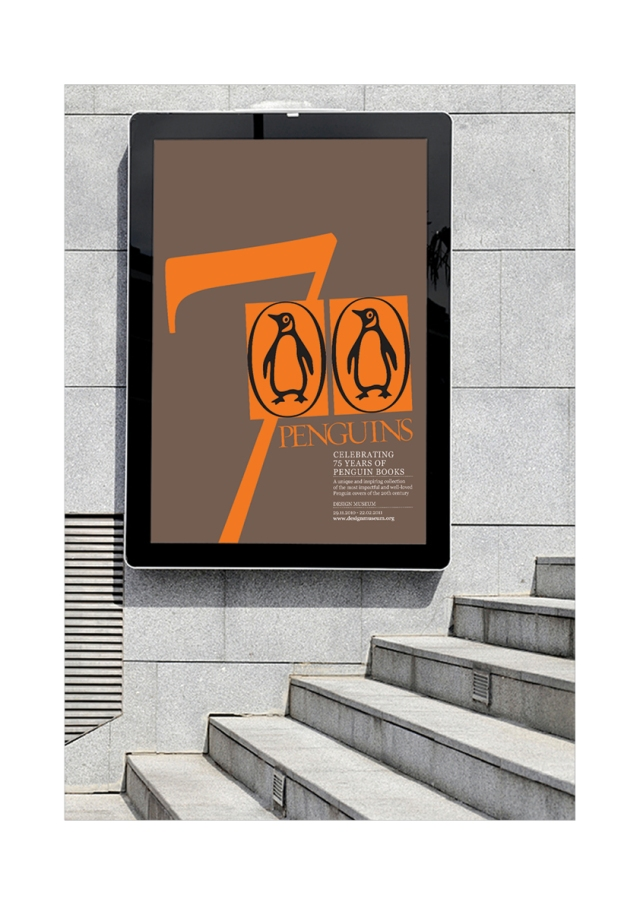 Poster designed to promote the celebration of Penguin Books. 1 Day - Student Brief