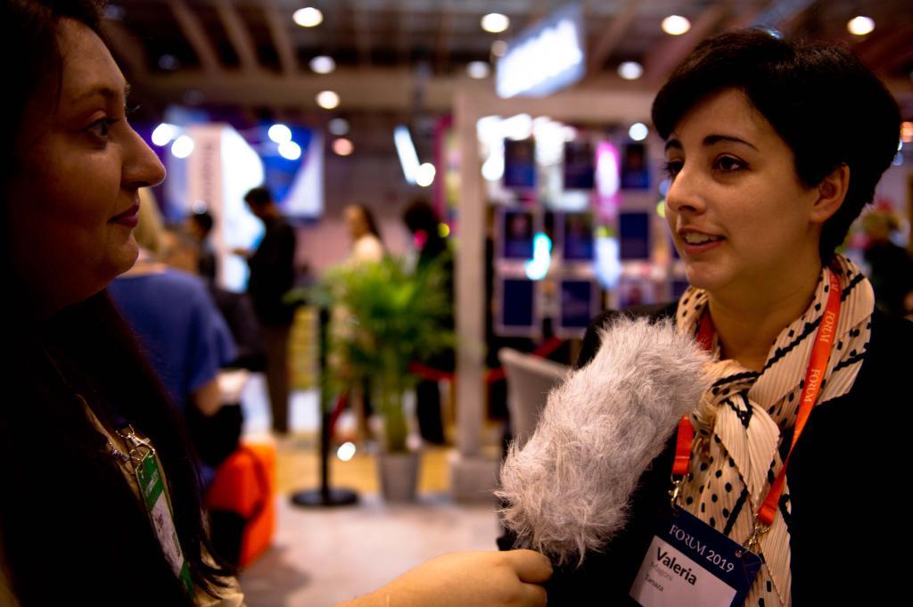 Zreen Mansha talking to Woman in Tech at the Web Summit 2019
